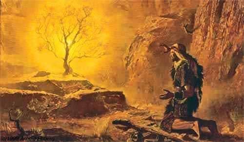 « Ils ont Moïse et les Prophètes, qu'ils les écoutent ! »/ Moise-buisson-ardent21