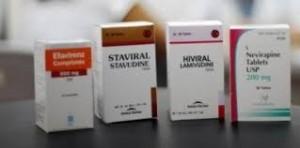Des boîtes de traitement ARV