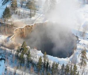 Un effondrement de la terre